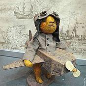Куклы и игрушки ручной работы. Ярмарка Мастеров - ручная работа Мишка- Тедди Авиатор. Handmade.