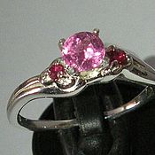Украшения handmade. Livemaster - original item Tourmaline pink natural rubies & ring 925 silver. Handmade.