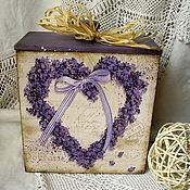 Для дома и интерьера ручной работы. Ярмарка Мастеров - ручная работа короб Лавандовое сердце. Handmade.