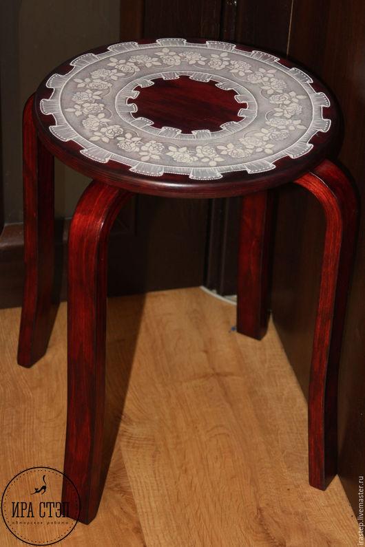 """Мебель ручной работы. Ярмарка Мастеров - ручная работа. Купить Табуретка """"Нежность"""". Handmade. Табурет, табурет для кухни"""