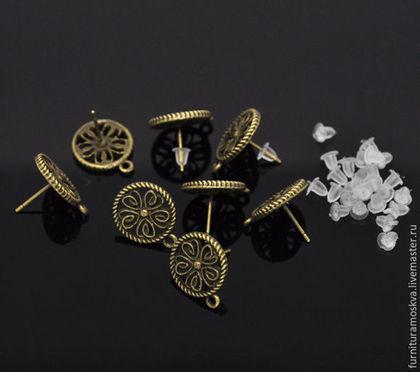 Швензы-пуссеты бронза 17х13 мм.1 пара 25 руб