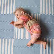 Работы для детей, ручной работы. Ярмарка Мастеров - ручная работа Плед для новорожденных на выписку шерстяной 105 на110см. Handmade.