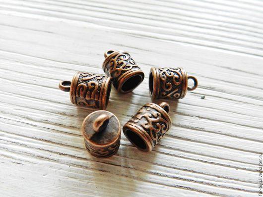 Концевик для шнуров, жгутов цвет Медь, материал сплав металлов (арт. 2103)