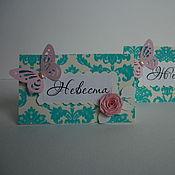 """Карточки ручной работы. Ярмарка Мастеров - ручная работа Рассадочные карточки """"Бархат"""". Handmade."""