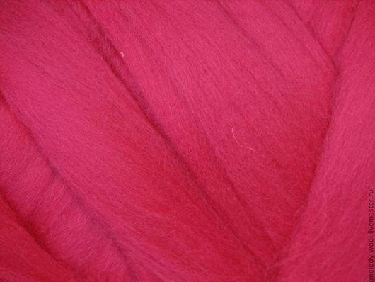 Валяние ручной работы. Ярмарка Мастеров - ручная работа. Купить Шерсть для валяния меринос 18 микрон цвет Малина (Raspberry). Handmade.
