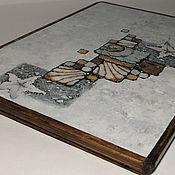 Для дома и интерьера handmade. Livemaster - original item Ceramic thermal stand on wooden platform PCT-P0000001. Handmade.