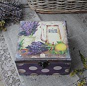 """Для дома и интерьера ручной работы. Ярмарка Мастеров - ручная работа """"Прованс"""" короб чайный. Handmade."""