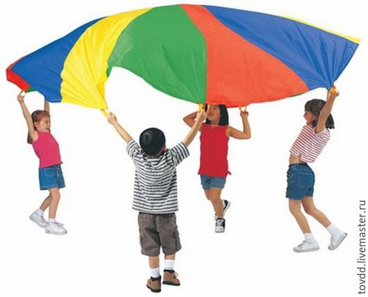 Развивающие игрушки ручной работы. Ярмарка Мастеров - ручная работа. Купить Игровой парашют 3 м. Handmade. Разноцветный, реквизит