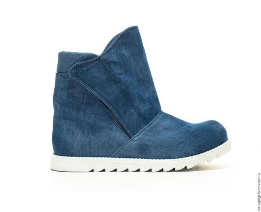 Обувь ручной работы. Ярмарка Мастеров - ручная работа. Купить Летние ботинки 8-154 (сб). Handmade. женская обувь