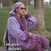 """Одежда ручной работы. Ярмарка Мастеров - ручная работа """"Аметистовая мозаика"""" пальто вязаное авторское. Handmade."""