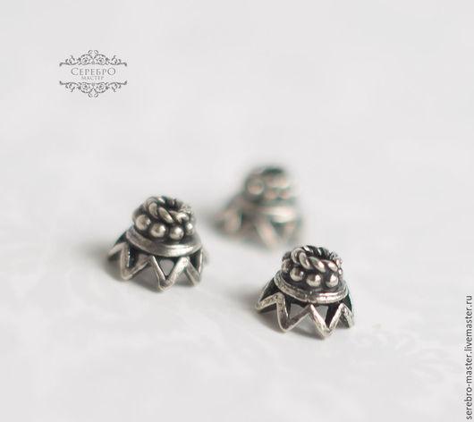 Шапочка для бусин серебро 925 пробы Размеры: 6*4 мм