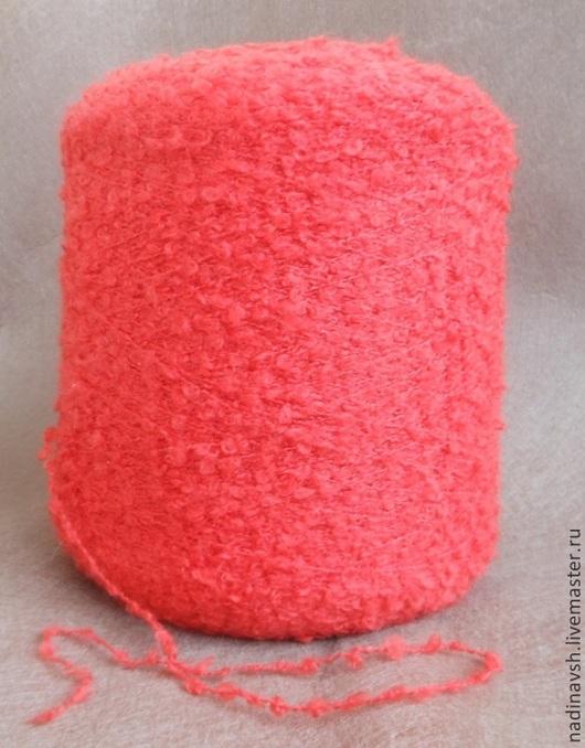 Вязание ручной работы. Ярмарка Мастеров - ручная работа. Купить Пряжа букле красная. Handmade. Ярко-красный, пряжа для вязания
