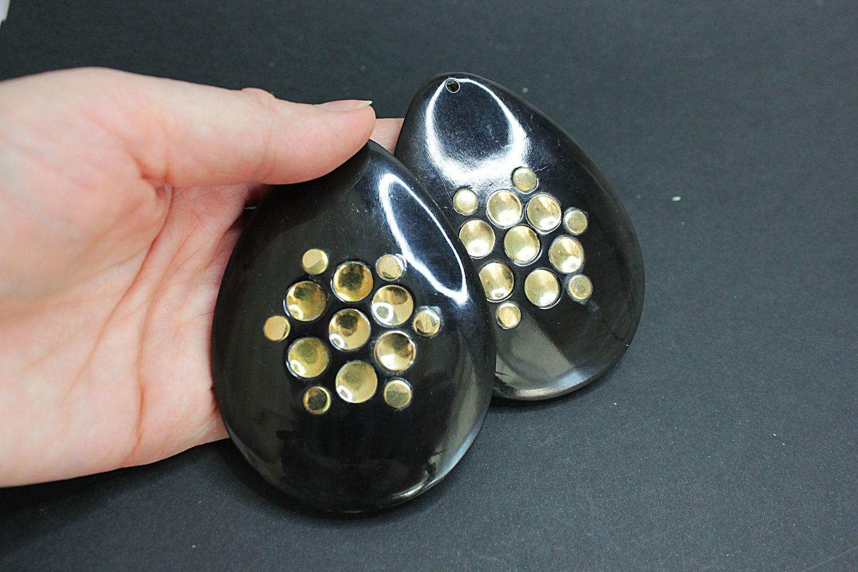 Water Buffalo horn Pendant drop 73h30mm, Pendants, Bryansk,  Фото №1