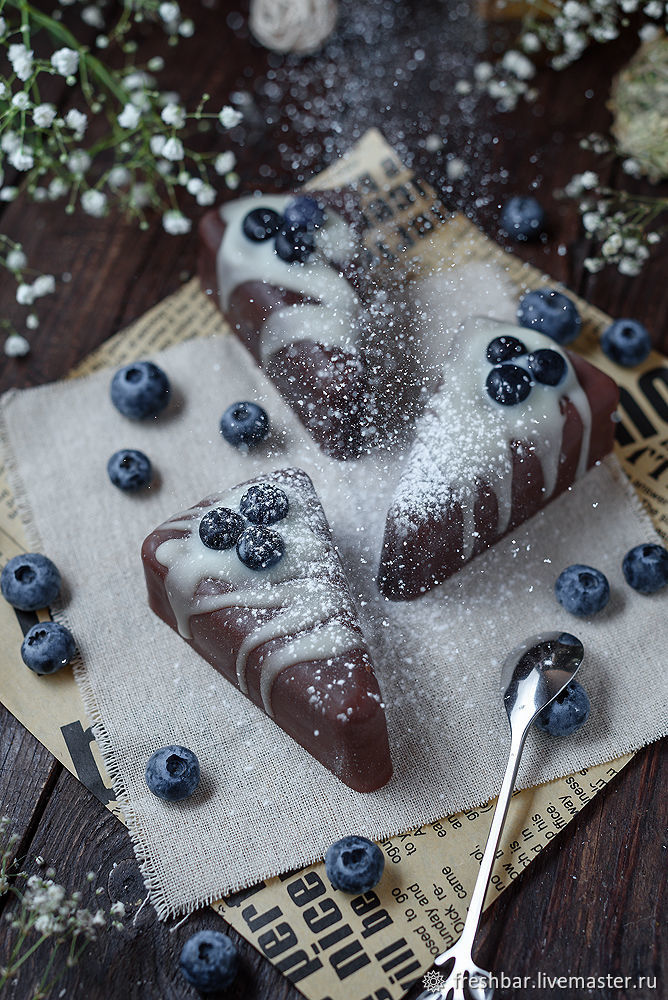 "Мыло ""Blueberry cake"" натуральное с нуля, Мыло, Санкт-Петербург,  Фото №1"