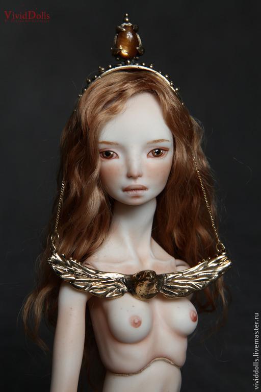 Коллекционные куклы ручной работы. Ярмарка Мастеров - ручная работа. Купить Ястреб. Handmade. Желтый, vivid dolls, фарфор, изумруды
