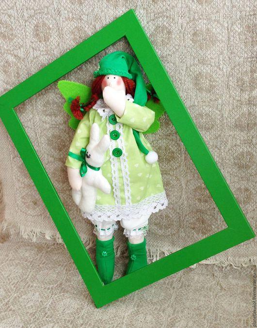 Куклы Тильды ручной работы. Ярмарка Мастеров - ручная работа. Купить Ангел снов тильда  Сплюшка сонный ангел зеленый. Handmade.