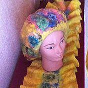 Аксессуары ручной работы. Ярмарка Мастеров - ручная работа берет и шарф комплект. Handmade.