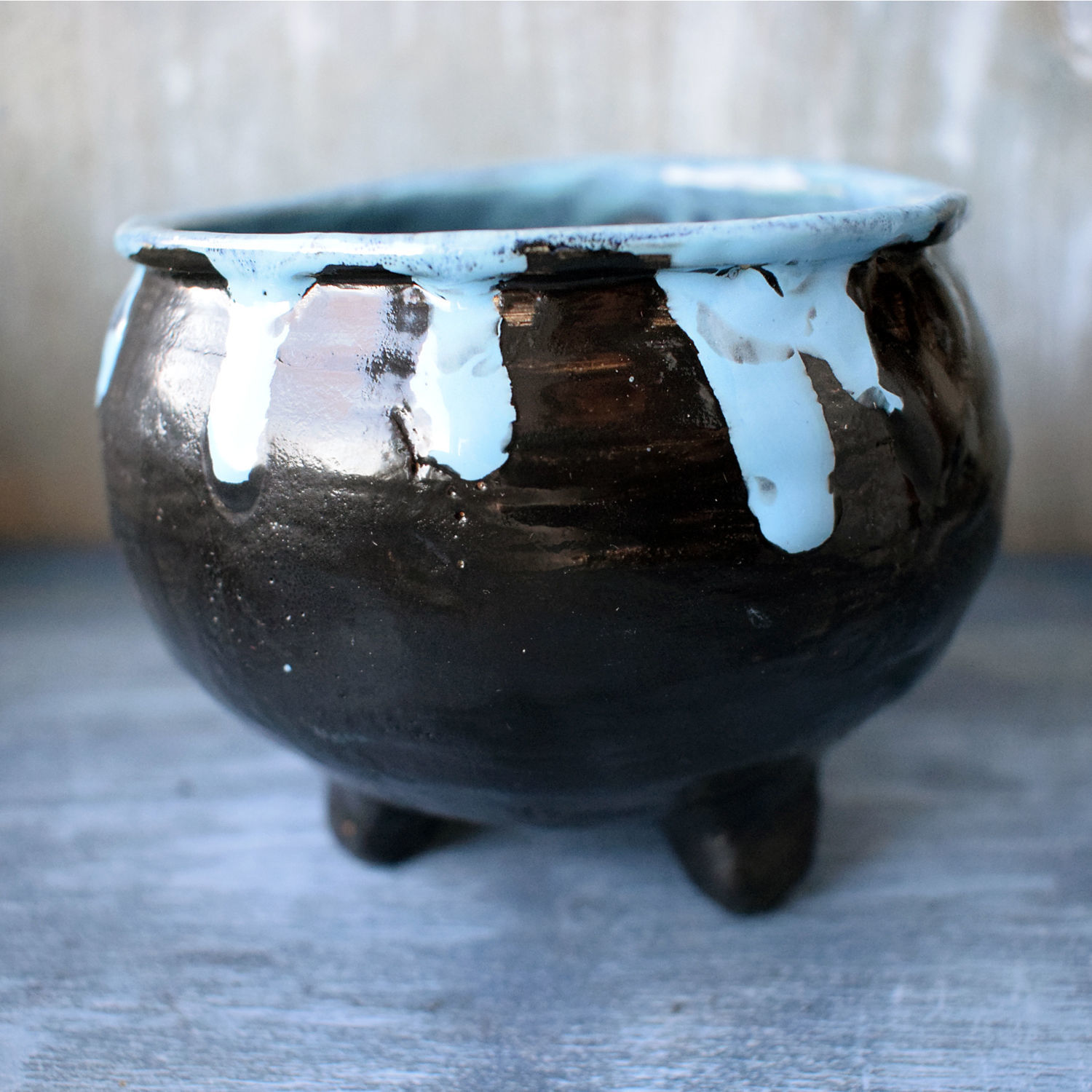 Witch's Cauldron with blue potion - bowl, Bowls, Moscow,  Фото №1