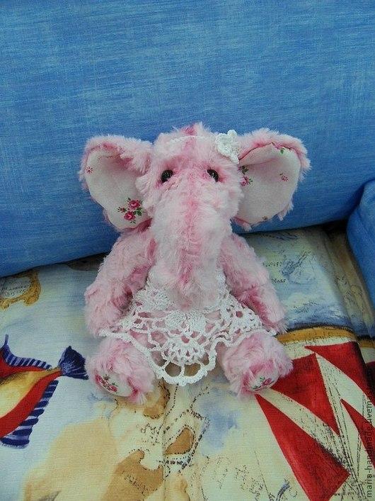 """Куклы и игрушки ручной работы. Ярмарка Мастеров - ручная работа. Купить Плюшевый """"розовый слон"""". Handmade. Розовый, слоник"""