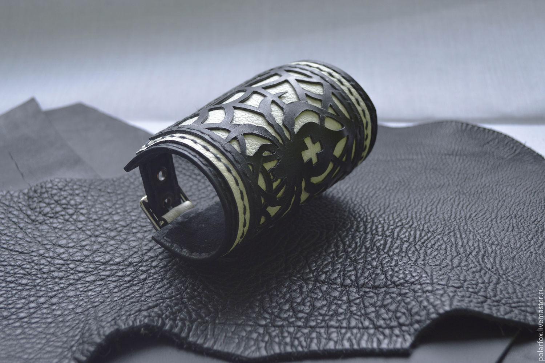 d7ddec9a363d Интернет-магазин Ярмарка · Браслеты ручной работы. Заказать Кожаный браслет  - Паутина. Irrka PolarFox. Ярмарка Мастеров. ...