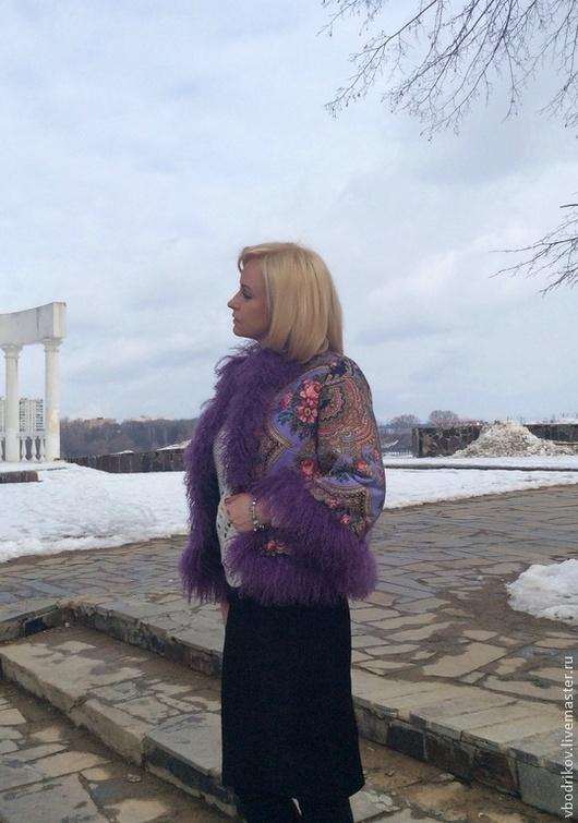 """Верхняя одежда ручной работы. Ярмарка Мастеров - ручная работа. Купить Куртка с ламой """" Цветочная поляна """" - 3. Handmade."""