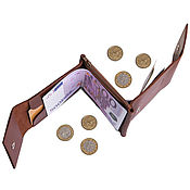 Сумки и аксессуары handmade. Livemaster - original item Duo money clip (brown, black, sand, red). Handmade.