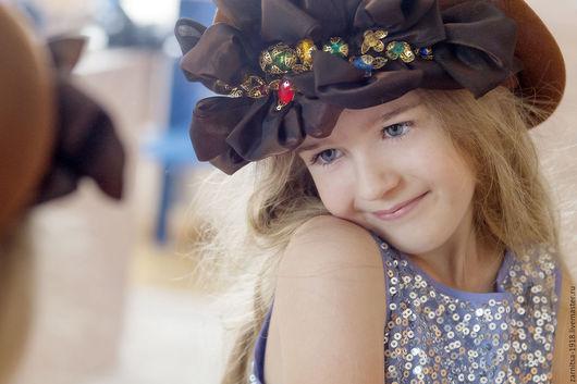 Шляпы ручной работы. Ярмарка Мастеров - ручная работа. Купить эксклюзивный берет. Handmade. Коричневый, шляпка, шляпка женская