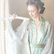 """Одежда ручной работы. Ярмарка Мастеров - ручная работа """"Фисташковый соблазн"""" - кимоно и сорочка фисташкового цвета. Handmade."""