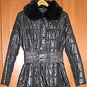 Винтаж handmade. Livemaster - original item Vintage clothing: Black winter coat of the German company Damo. Handmade.