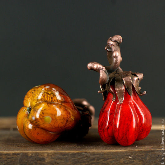 Кулоны, подвески ручной работы. Ярмарка Мастеров - ручная работа. Купить Ботаника Тыковки. Handmade. Овощ, оранжевый, стекло, тыква