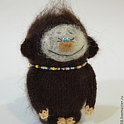 Куклы и игрушки ручной работы. Ярмарка Мастеров - ручная работа Обезьянка вязаная игрушка Новогодний символ 2016 года. Handmade.