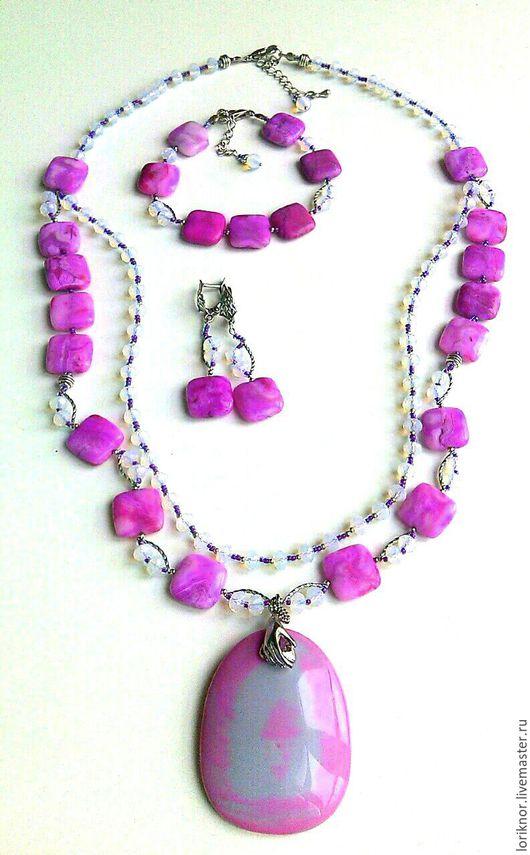 Комплект украшений `Розовые мечты`.