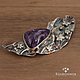 Order Brooch silver Starry night (charoite, silver). jewelart. Livemaster. . Brooches Фото №3