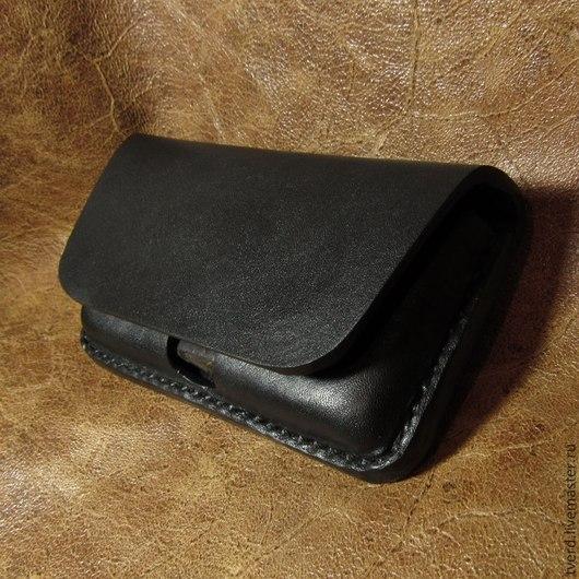 Для телефонов ручной работы. Ярмарка Мастеров - ручная работа. Купить Чехол для iPhone 4, 5, 6(Айфон) из толстой кожи на пояс. Handmade.