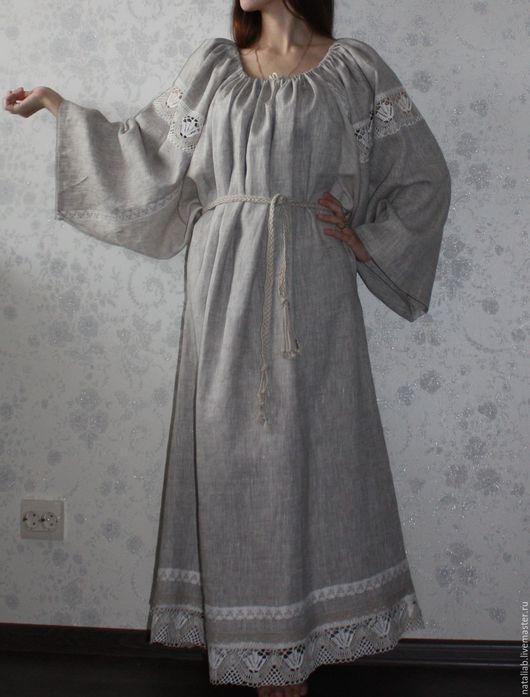 """Платья ручной работы. Ярмарка Мастеров - ручная работа. Купить Льняное платье """"Linen style"""". Handmade. Серый, летнее платье"""