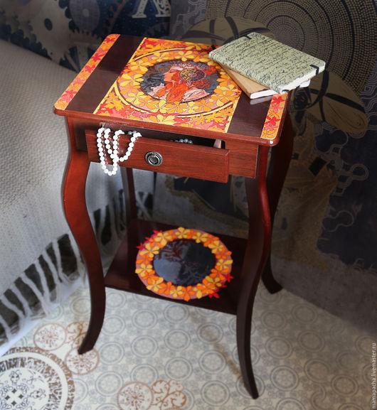 Мебель ручной работы. Ярмарка Мастеров - ручная работа. Купить Столик. Модерн.. Handmade. Рыжий, Мебель, тумба, прикроватный столик
