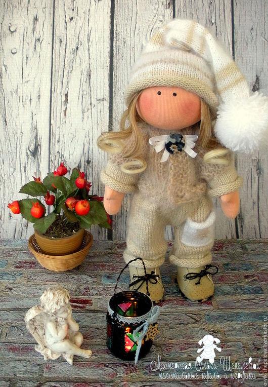 Коллекционные куклы ручной работы. Ярмарка Мастеров - ручная работа. Купить Гномочка. Интерьерная текстильная кукла.. Handmade. Бежевый