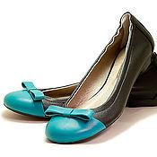Обувь ручной работы. Ярмарка Мастеров - ручная работа Балетки Black. Handmade.