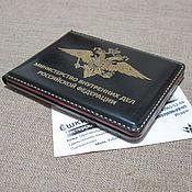 Канцелярские товары handmade. Livemaster - original item Cover certificate of the Ministry of interior. Police cover. nominal cover.. Handmade.