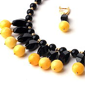 Украшения handmade. Livemaster - original item Chalker Cosmos black-yellow agate. planet. Handmade.