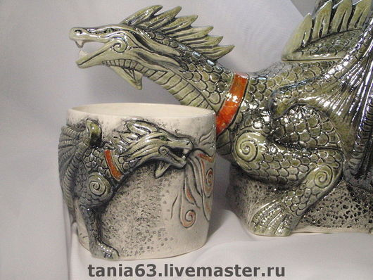 Mugs & Cups handmade. Livemaster - handmade. Buy Mug 'The Dragon'.Mug, handmade items, lustlove paint