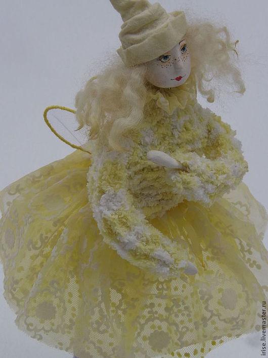 Коллекционные куклы ручной работы. Ярмарка Мастеров - ручная работа. Купить Кукла Фея Мимозы. Handmade. Лимонный, веснушки, фея