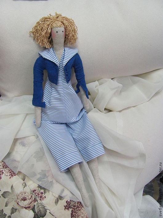 Куклы Тильды ручной работы. Ярмарка Мастеров - ручная работа. Купить Морячка интерьерная кукла в стиле Tilda из натуральных тканей. Handmade.