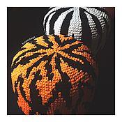 Для дома и интерьера ручной работы. Ярмарка Мастеров - ручная работа Вязаный пуф Kozaa`s Bags Тигр и Зебра, размер М. Handmade.