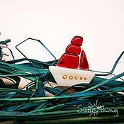 """Украшения ручной работы. Ярмарка Мастеров - ручная работа Брошь """"Алые паруса"""". Handmade."""