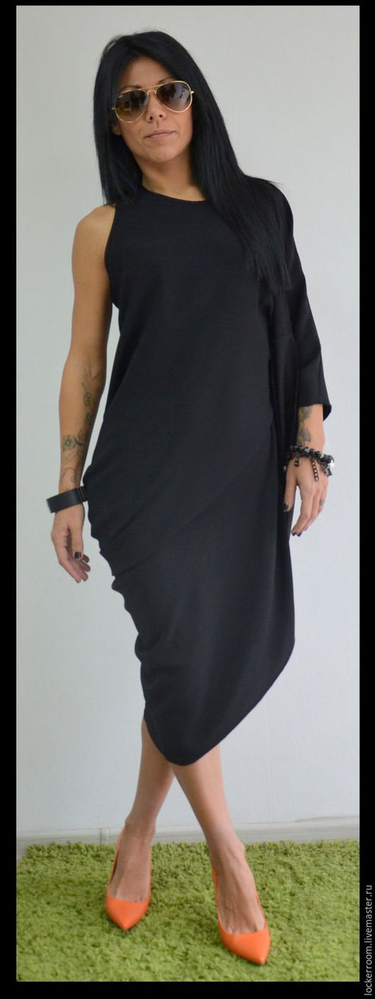 черное платье, вечернее платье, платье в пол, платье трансформер, красивое платье