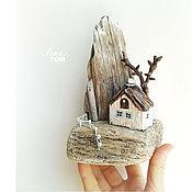 Сувениры и подарки ручной работы. Ярмарка Мастеров - ручная работа `Домик в горах` миниатюра, домик для интерьера (резерв). Handmade.