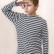 Одежда handmade. Livemaster - original item Vest children`s Navy knitted. Handmade.