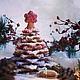 Кулинарные сувениры ручной работы. Ярмарка Мастеров - ручная работа. Купить елка 3D на подставке. Handmade. Елка, пряники, Зефир