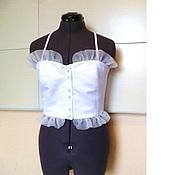 Одежда handmade. Livemaster - original item Corsage Cnarm 40,42,44,46,48,50 white. Handmade.